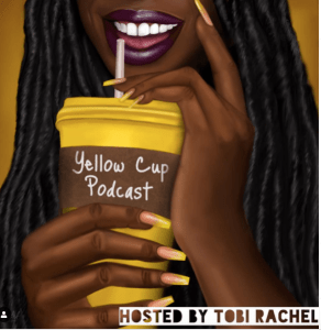 Ilustartion of a Black woman sipping on a drink from a cup