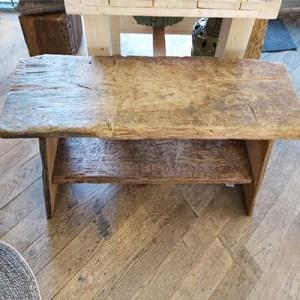 Hard houten bankje 140x55