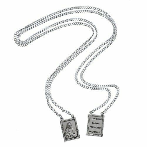 Escapulário de prata masculino
