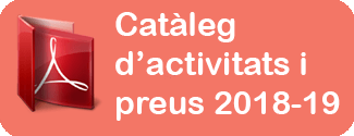 Catàleg activitats i preus Jove Espectacle