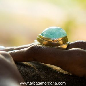 Tabata Morgana - Anillo de aguamarina y plata
