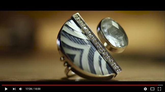 Enamel ring making by Sergejs Blinovs