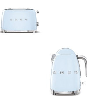 Smeg Pastel Blue Kettle and Toaster Bundle