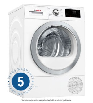 Bosch Serie | 6 Self Cleaning Condenser Tumble Dryer with Heat Pump WTWH7660GB