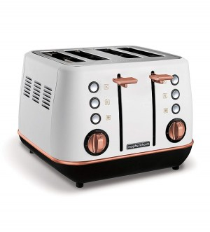 Morphy Richards Evoke Rose Gold and White Special Edition 4 Slice Toaster 240115