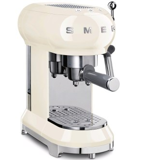 Smeg 50's Retro style Espresso Coffee Machine Cream EFCF01CRUK