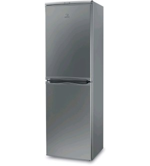 Indesit 55cm 1.7m Tall Silver Fridge Freezer IBD5517S