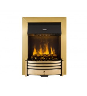 Dimplex Crestmore Traditional Brass Effect Opti-myst Inset Fire CRS20