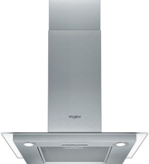 Whirlpool 60cm T-shaped Flat Glass & Steel Cooker Hood | WHFG 63 F LE X