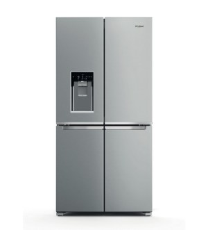 Whirlpool 4 Door Frost Free Fridge Freezer with Water & Ice Dispenser | Stainless Steel | WQ9I MO1L UK