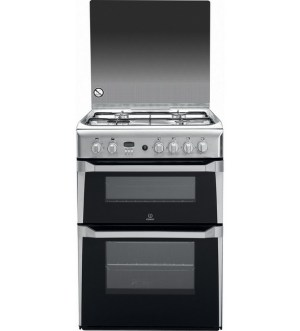 Indesit 60cm Gas Cooker Silver | ID60G2(X)