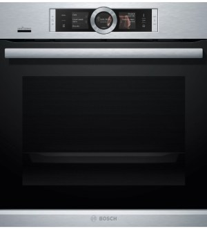 Bosch Serie 8 Single Pyrolytic Oven Brushed Steel | HRG6769S6B