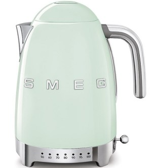 Smeg 50's Retro Style Variable Temperature Kettle, Patel Green KLF04PGUK
