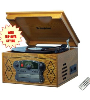 Steepletone Chichester 3 Record Player   Light Wood