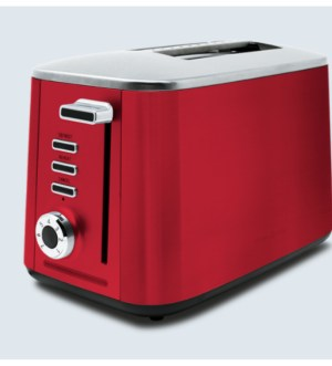 Drew&Cole Rapid 2 Slice Toaster Wide Slot | Red