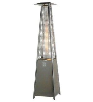 13kW Stainless Steel Gas Patio Heater – Flame Tower with Free Cover BU-KO-SS