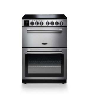 Rangemaster Professional+ Cooker Electric Ceramic Stainless Steel with Chrome trim | PROPL60ECSS/C