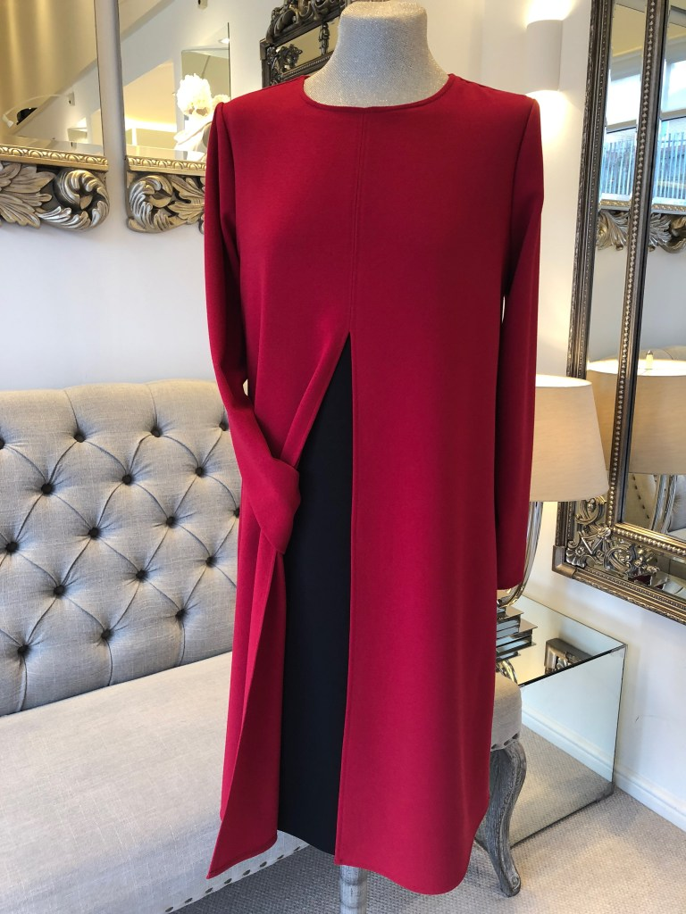 Overdress with split front
