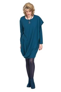wrap style dress in teal perfect for Christmas Day