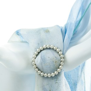 Single Tier Round Pearl Buckle Accessories