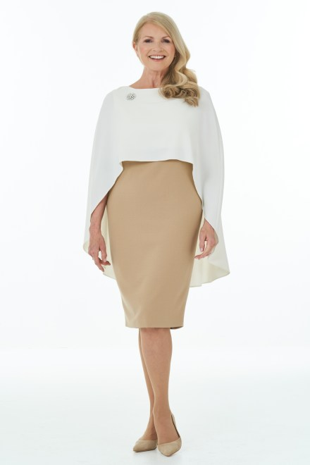 Camel and Ivory short dress and cape