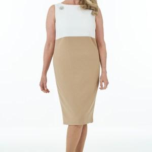 Camel and Ivory short dress