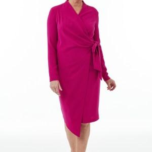 Fuchsia Wrap dress
