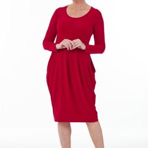 Red Hammer Skirt Dress