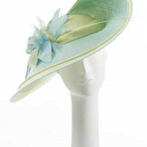 Pistachio and Mint Large Double Brim Hat