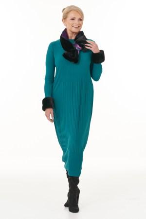 Jade Long Pleated Dress