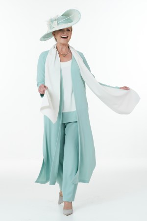 FittingsMint and ivory trouser outfit Signature collection