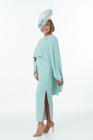 Long Side Slit Dress in Mint