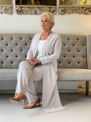 Pebble and Ivory Trouser Outfit