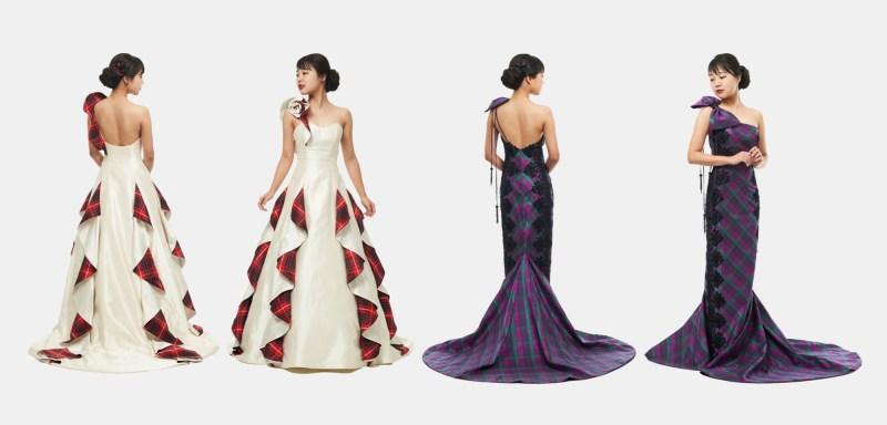 Tartan Dresses for Japanese Exhibition