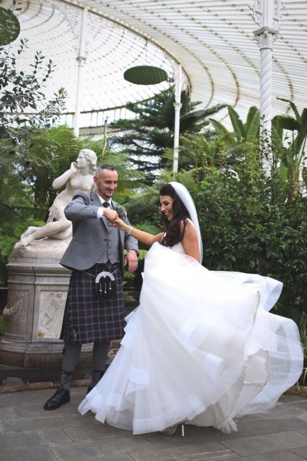 Amelia and Michael on their wedding day