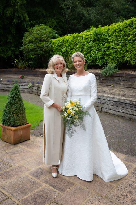 Bride Melanie with mum Kay