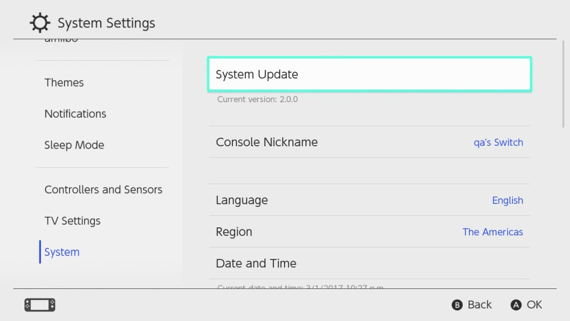 Switch Firmware 5.0 Released Here's the Details