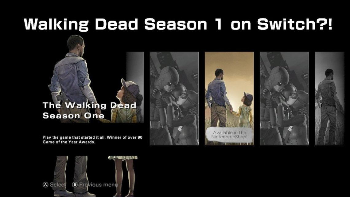 "The Walking Dead: The Final Season's ""More From Telltale"" option apparently teases The Walking Dead: Season One for Nintendo Switch"