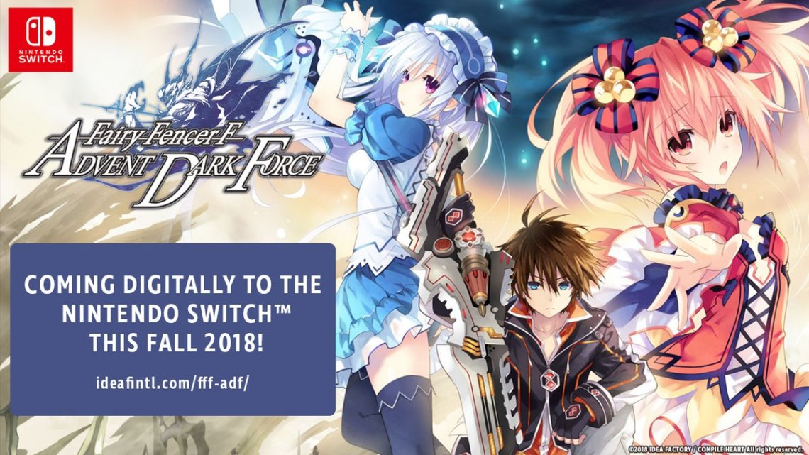 Fairy Fencer F: Advent Dark Force Coming to Nintendo Switch in Fall 2018 Game will be released digitally for $39.99
