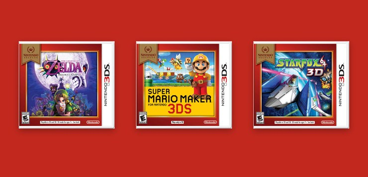 Three New 3DS Titles Added to Nintendo Selects Catalog