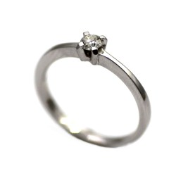 1cc9e07685b0 Sortija de oro blanco y diamante Solitario