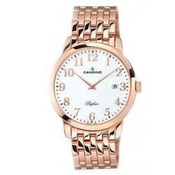 05a8f74ea0f6 Reloj Candino acero oro rosa Cristal Zafiro