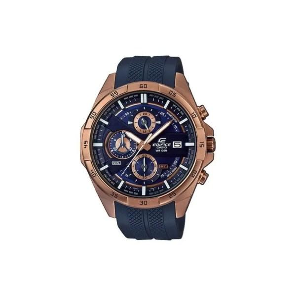 Reloj Casio EFR-556PC-2AVUEF de hombre NEW con caja de acero ip oro rosa y correa de resina azul colección Edifice