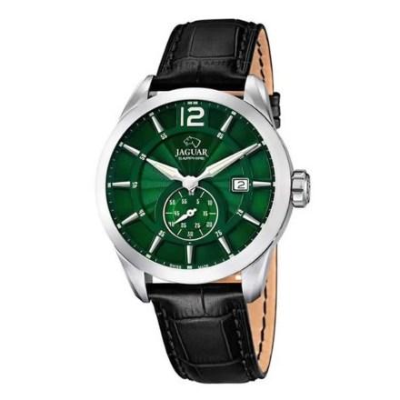 Reloj Jaguar J663/3 de hombre NEW con caja de acero y correa de piel fondo verde