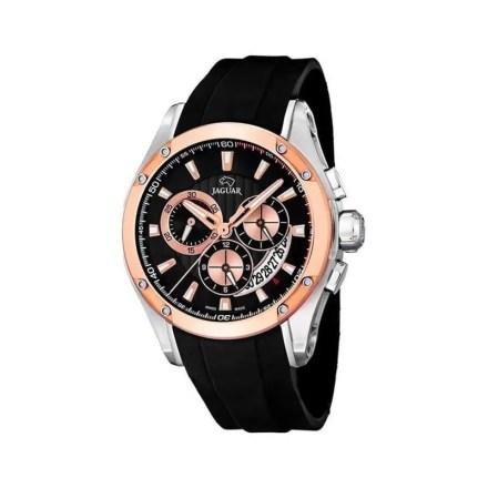 Reloj Jaguar J689/1de hombre NEW con caja de acero ip oro rosa de 18 kilates y correa de caucho Limited Edition 2015
