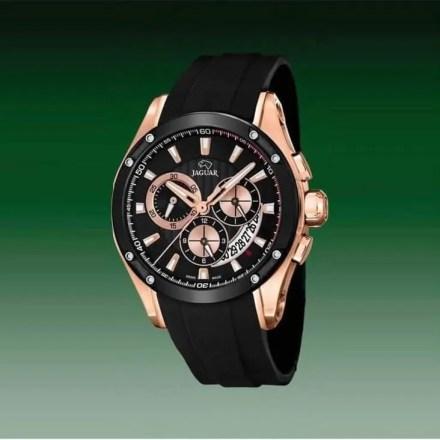 Reloj Jaguar J691/1 de hombre NEW con caja de acero ip oro rosa-black y correa de resina negra Special Edition