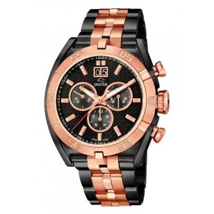 Reloj Jaguar J811/1 de hombre NEW con caja y brazalete de acero bicolor oro rosa-negro Edición Limitada