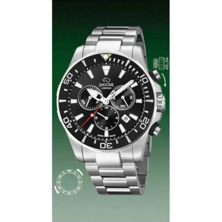 Reloj Jaguar J861/3 de hombre NEW con caja y brazalete de acero inox Cronógrafo Diver