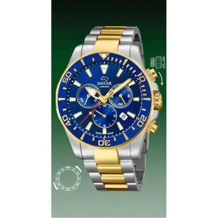 Reloj Jaguar J862/1 de hombre NEW con caja y brazalete de acero bicolor Cronógrafo Diver