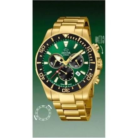 Reloj Jaguar J864/1 de hombre NEW con caja y brazalete de acero chapado en oro Cronógrafo Diver
